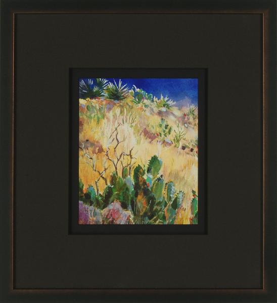 Desert Landscape, New Mexico (A), framed
