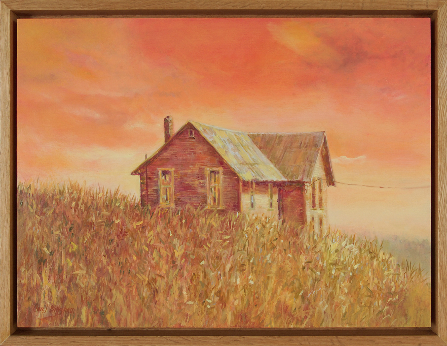 Prairie House, framed