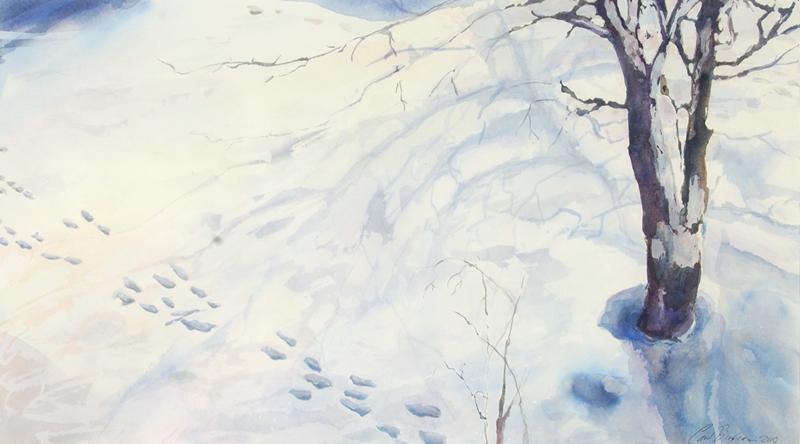 Snow Tracks, unframed
