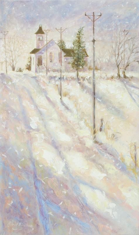 Snowfall on the Church Road