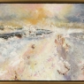 Winter Field, framed