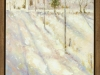 Snowfall on the Church Road-framed