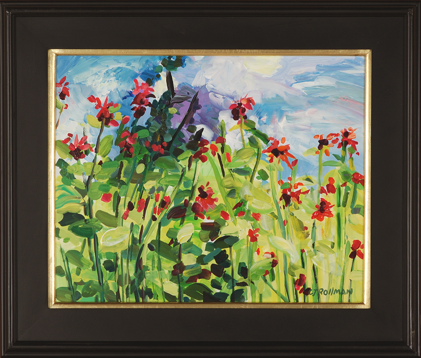 Bee Balm Afternoon, framed