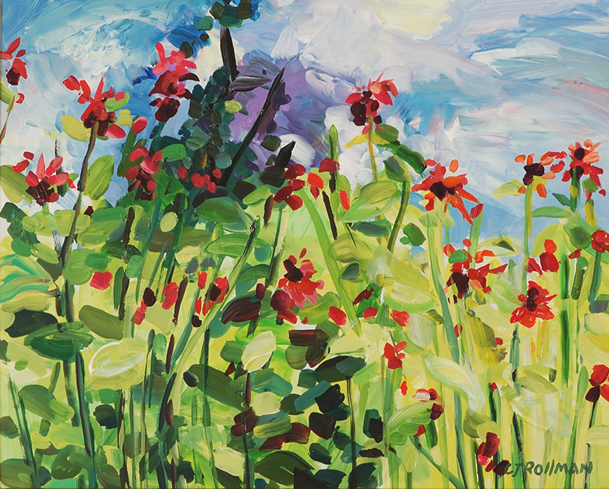 Bee Balm Afternoon, unframed