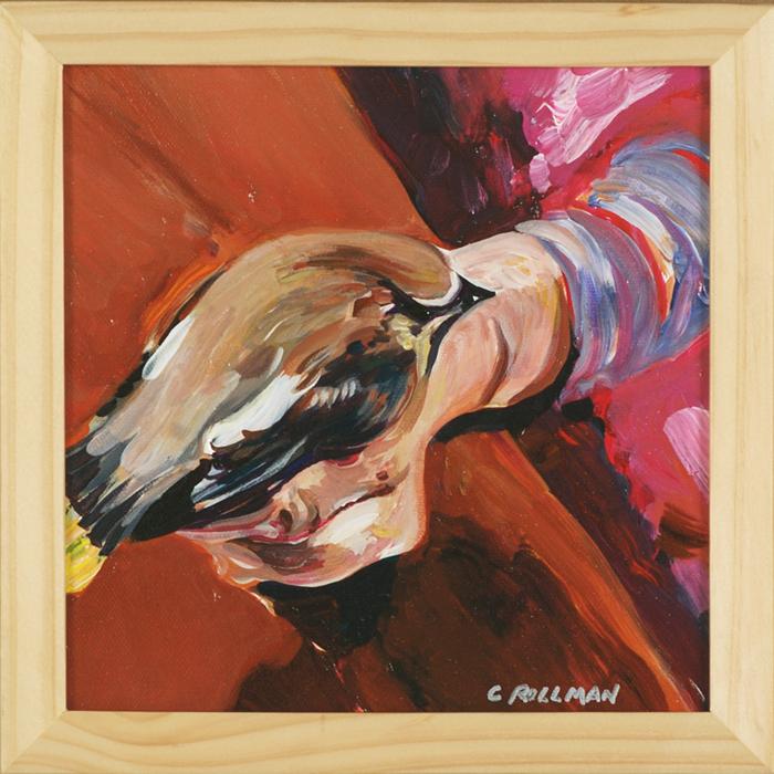 Bird in Hand, framed