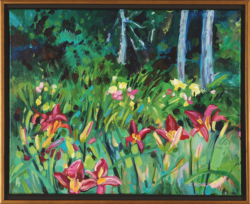Cool Day at the Lily Farm, framed