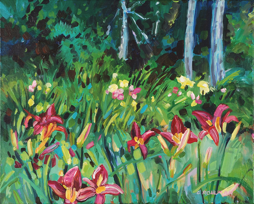 Cool Day at the Lily Farm, unframed