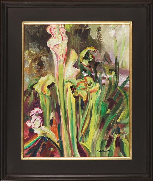 Trumpet Pitcher Plant, framed