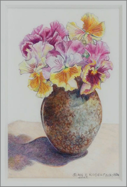 """""""Flamenco Pansies in Oval Pot"""""""