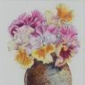 """Flamenco Pansies in Oval Pot"""