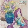 """Freesias, Irises and Furoshiki"""