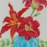 """Variation in Reds"" (Lilies)"