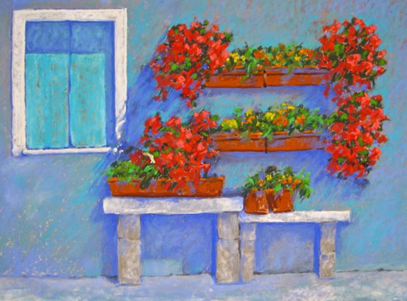 Geraniums in Italy