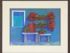 Geraniums in Italy, framed