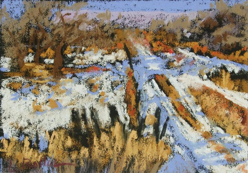Winter Farmlands, unframed