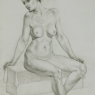 """Female Figure Drawing #0194-2013"""