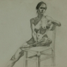 """Female Figure Drawing No. 0206-2013"""