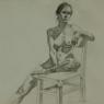 """Female Figure Drawing No. 0206-2013"""