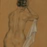 """Female Figure with White Cloth"""