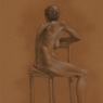 """Female Figure Drawing #0134-2013"""