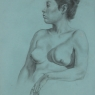 """Female Figure Drawing #0200-2012"""