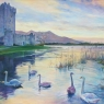 Ross Castle at Sunset, County Kerry, Ireland""