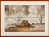 Port in a Storm, framed