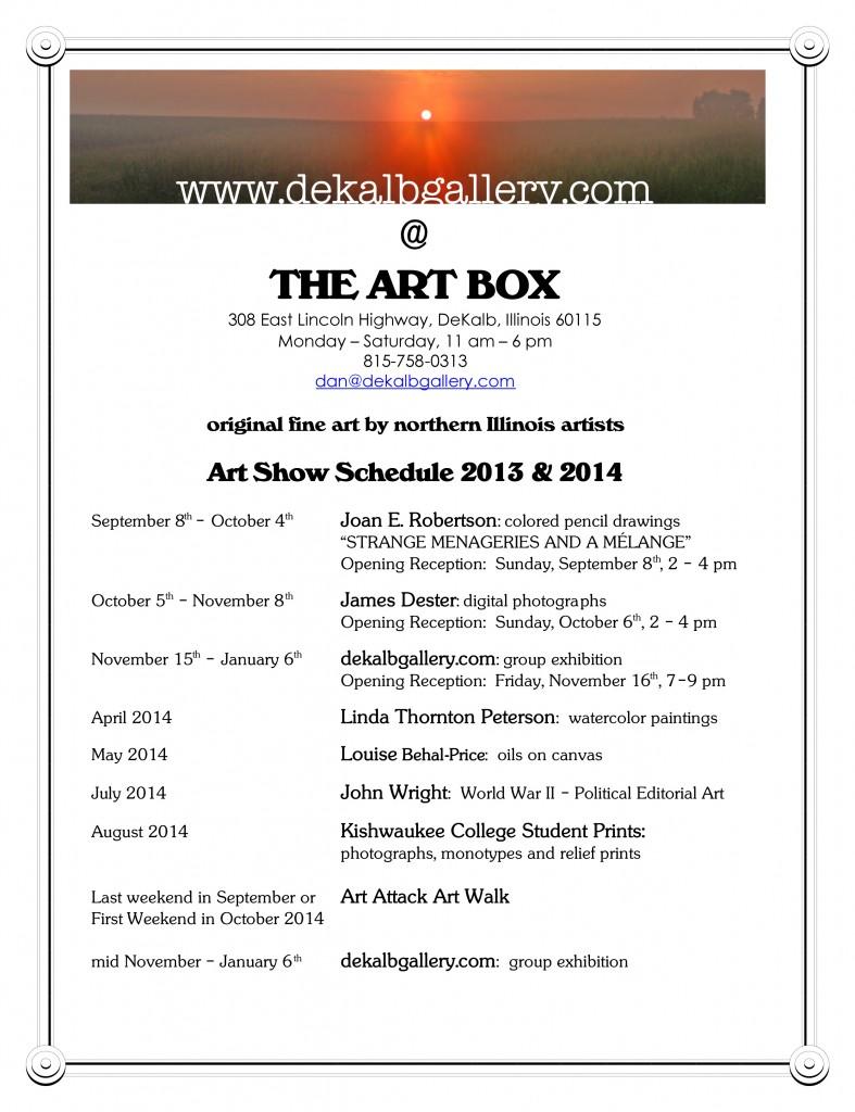 Art Show Calendar : Art show schedule dekalbgallery dekalb gallery