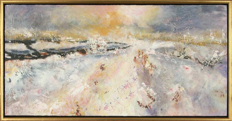 Winter Field, framed