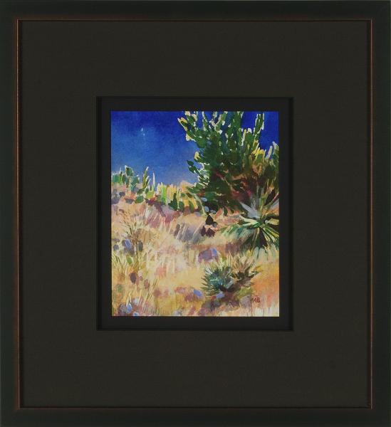 Desert Landscape, New Mexico (C), framed