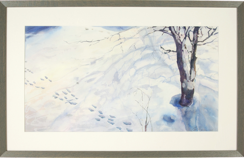 Snow Tracks, framed