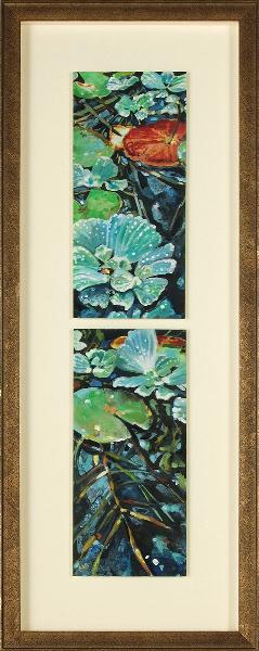 Garden Walk:  Two Lilies