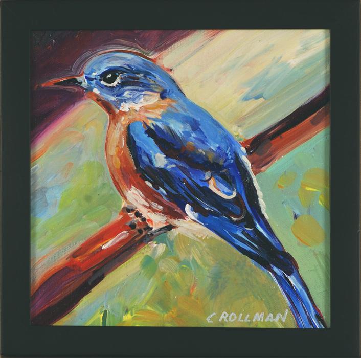 Bluebird, framed