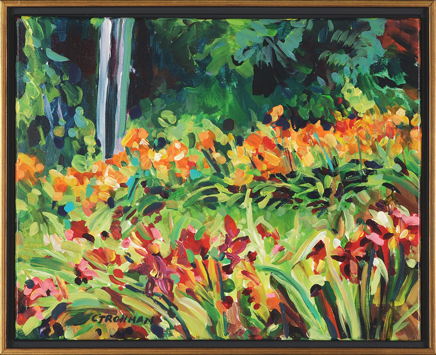 Hot Day at the Lily Farm, framed