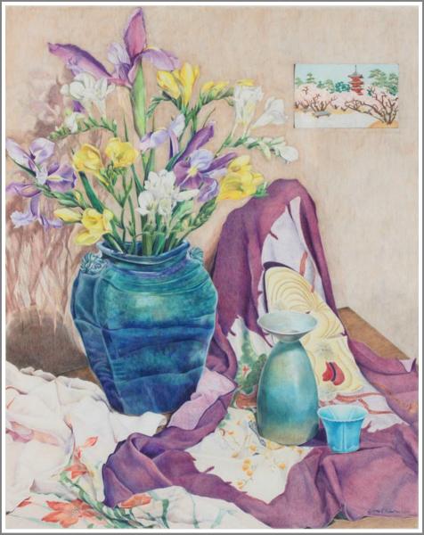 """""""Freesias, Irises and Furoshiki"""""""