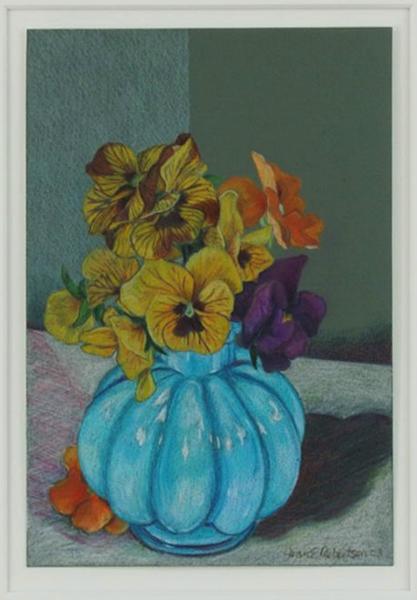 """""""Pansies in Mom's Vase"""""""