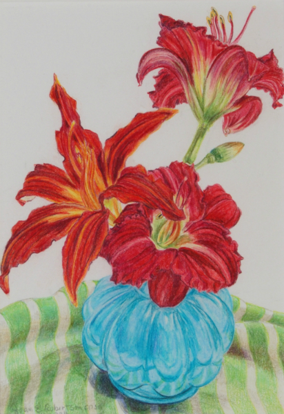"""""""Variation in Reds"""" (Lilies)"""