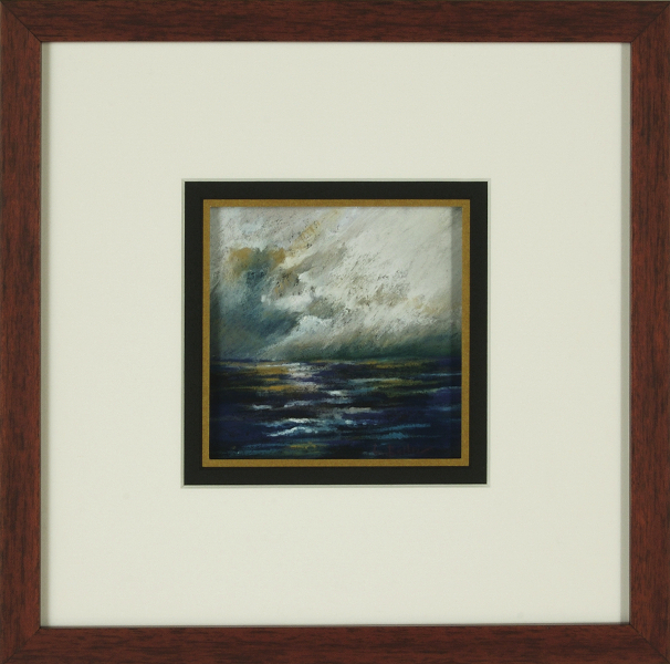 0040 Storm at Sea Bay of Naples, framed
