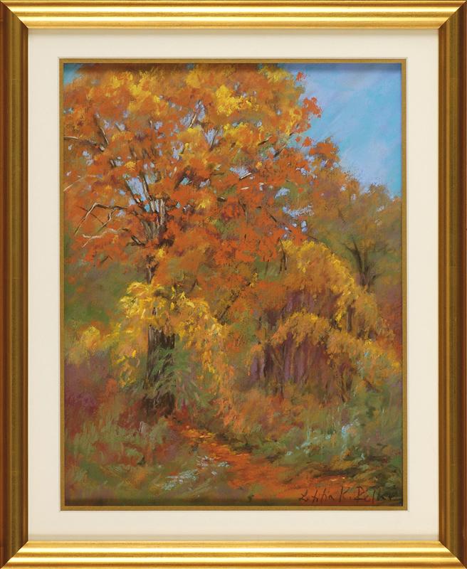 Autumnal Vines, framed