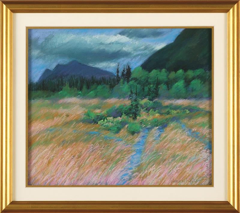 Katmai Swamp, framed