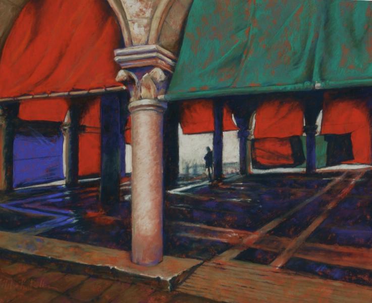 """""""Rainy Day Rialto Piazza, Venice"""""""