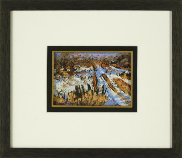 Winter Farmlands, framed