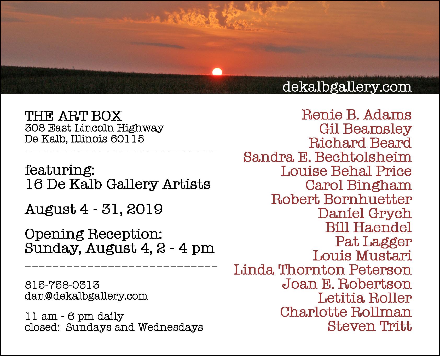 announcement_16 De Kalb Gallery Artists