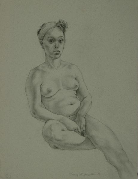 """Female Figure Drawing #0006-2012"""