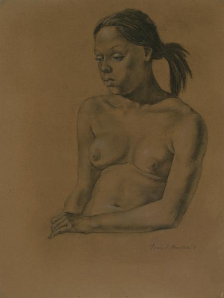 """Female Figure Drawing #0199-2011"""