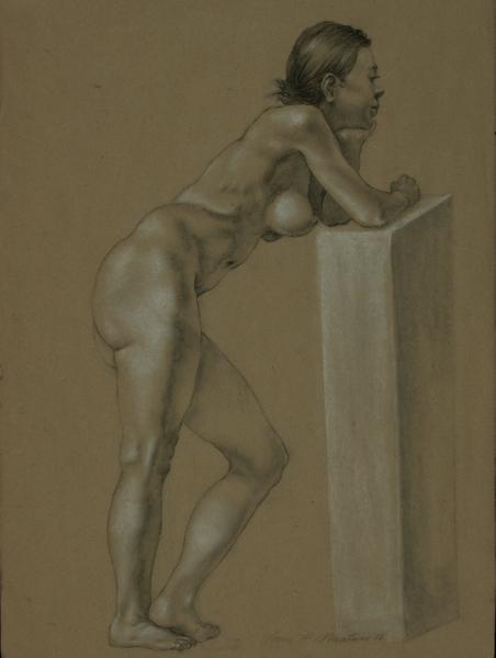 """Female Figure Drawing #0201-2012"""