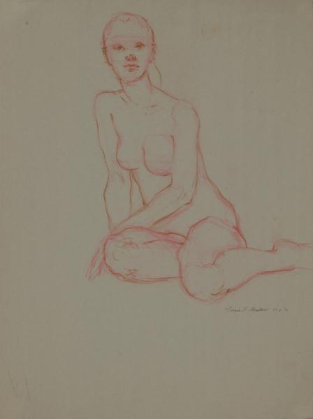 """Female Figure Drawing #0203-2013"""