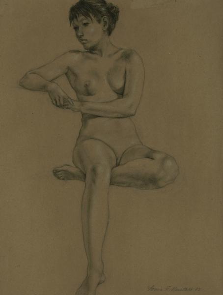 """Female Figure Drawing #0204-2012"""
