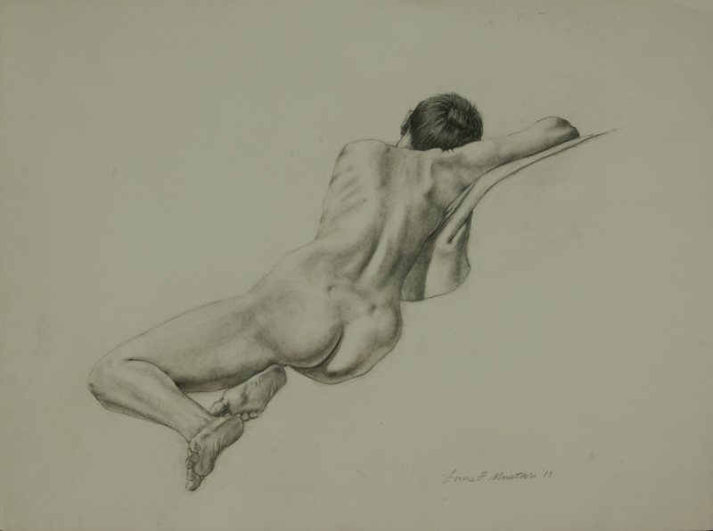 """Female Figure Drawing No. 0205-2013"""