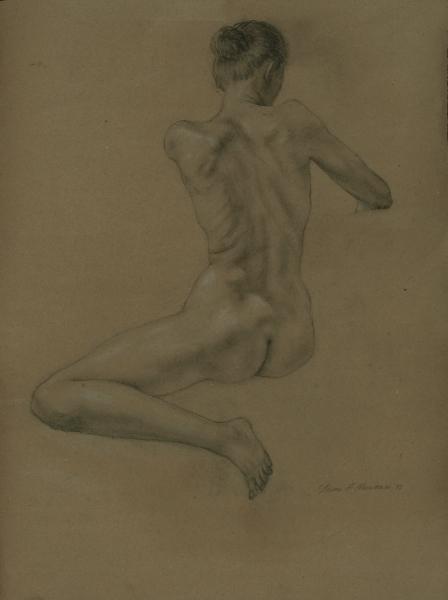 """Female Figure Drawing No. 0207-2013"""